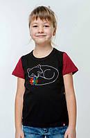 Детская вышитая футболка