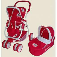 Коляска для кукол Маша и Медведь ММ 1014, трансформер, большие поворотные колеса, возраст 3-8 лет
