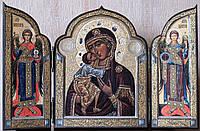 Складень Божия Матерь «Федоровская» с Архангелами