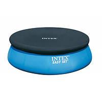 Тент на бассейн Интекс EASY SET POOL 28020, диаметр 244см, фиксация при помощи каната, вес 1,6кг
