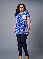 Женская блуза с оригинальной спинкой  503-5