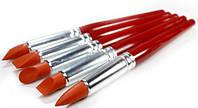 Стеки инструменты для лепки силиконовые кисти-для работы с глиной,воском,мастикой (5 шт.,размер L)