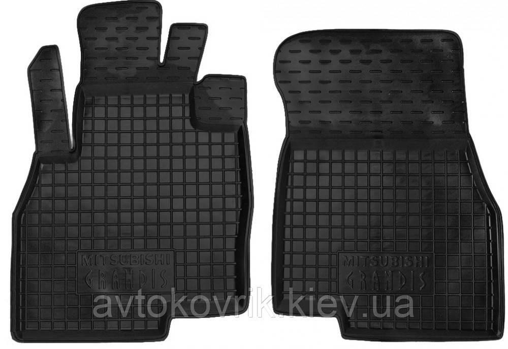 Полиуретановые передние коврики в салон Mitsubishi Grandis 2003-2011 (AVTO-GUMM)