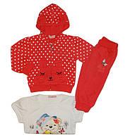 Трикотажный костюм-тройка на девочку оптом, Crossfire 6-36 см. арт.CF-1105, фото 1