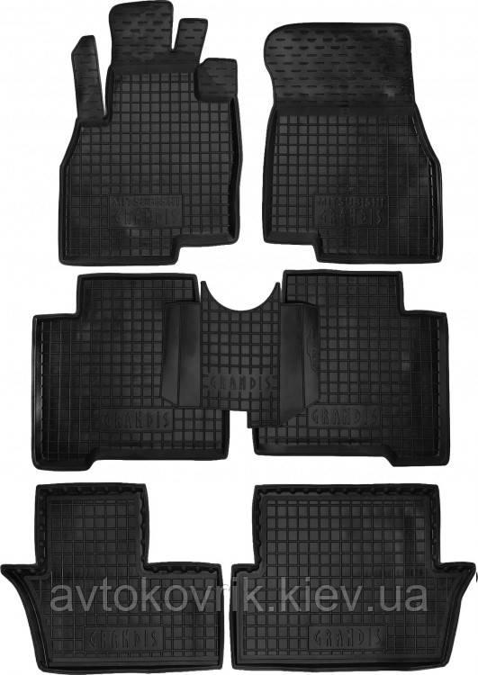 Полиуретановые коврики в салон Mitsubishi Grandis 2003-2011 (7 мест) (AVTO-GUMM)