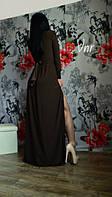 Женское Красивое платье в пол цвет - шоколад и марсала