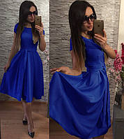 Женское нарядное Платье  Флер электрик