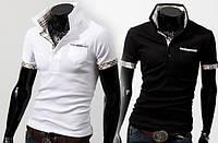 Мужская футболка поло черная и белая