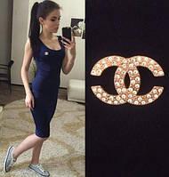 """Женское Платье - майка длинное """"Chanel"""" р. 42,44,46,48"""