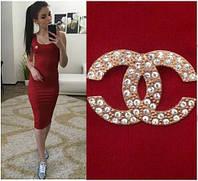 """Женское Платье - майка длинное """"Chanel"""" бордо р. 42,44,46,48"""