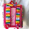 Школьный ранец для девочек Ортопедический Трансформер 12583-2 (35x35см), фото 3