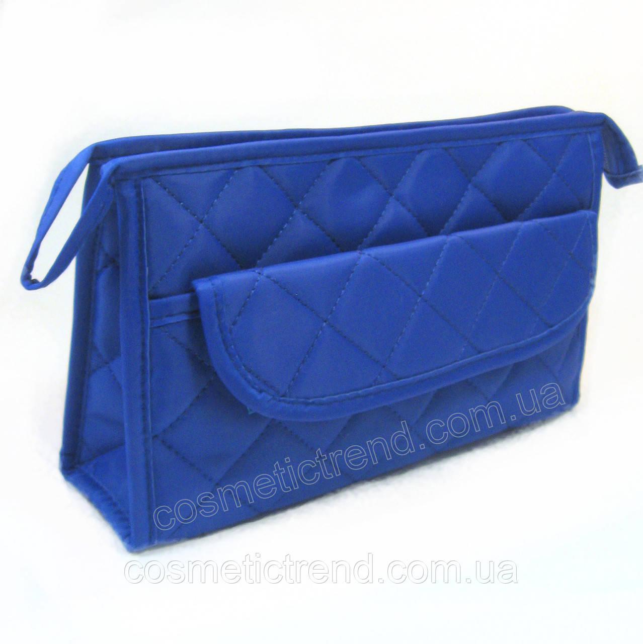 Косметичка женская стеганая универсальная (6 отделений) Baoyun-427/blue  24*15*7 см