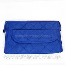 Косметичка женская стеганая универсальная (6 отделений) Baoyun-427/blue  24*15*7 см, фото 2