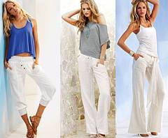 Что носить с белыми брюками?