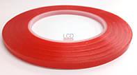 Скотч двухсторонний красный 0,5 см
