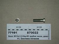 Болт М14х1,5-6q-48 трубок низк. давл. (пр-во КАМАЗ), 870022