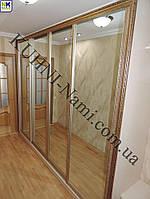 Шкаф-купе с дверьми с зеркалом на заказ