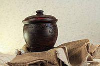 Макитра для солений, декорированная