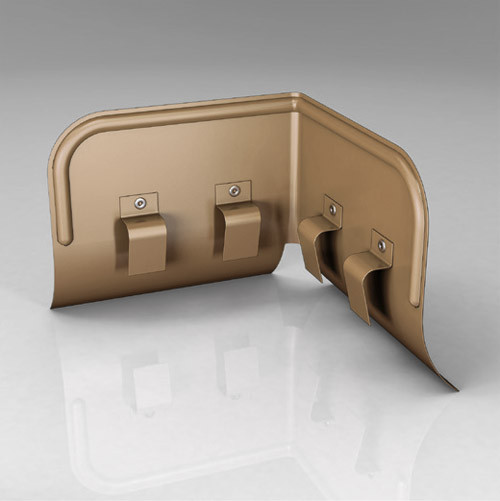Переливозадержатель PP ROOFART Scandic Copper 125 мм
