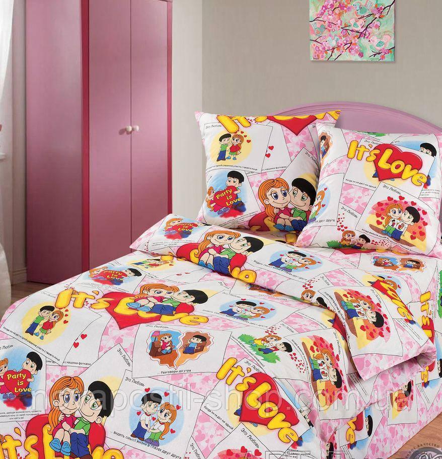 Ткань для детского постельного белья, бязь Очаровашки