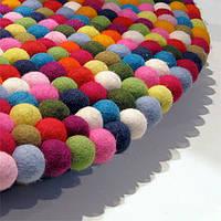 Ковры из войлочный шариков, валяные ковры, ковры из фетровой шерсти