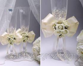 Свадебные бокалы Flowers в ассортименте