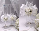 Свадебные бокалы Flowers в ассортименте, фото 2