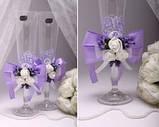Свадебные бокалы Flowers в ассортименте, фото 3