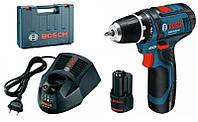 BOSCH GSR 10,8 V-2-LI Professional - Акумуляторний дриль-шупуповерт, кейс, 2,0 А*год