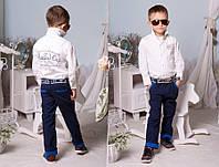 """Детские летние стильные брюки 2191 """"Коттон Кант Отворот"""" в расцветках"""