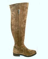 Ботфорты женские табачного цвета, фото 1