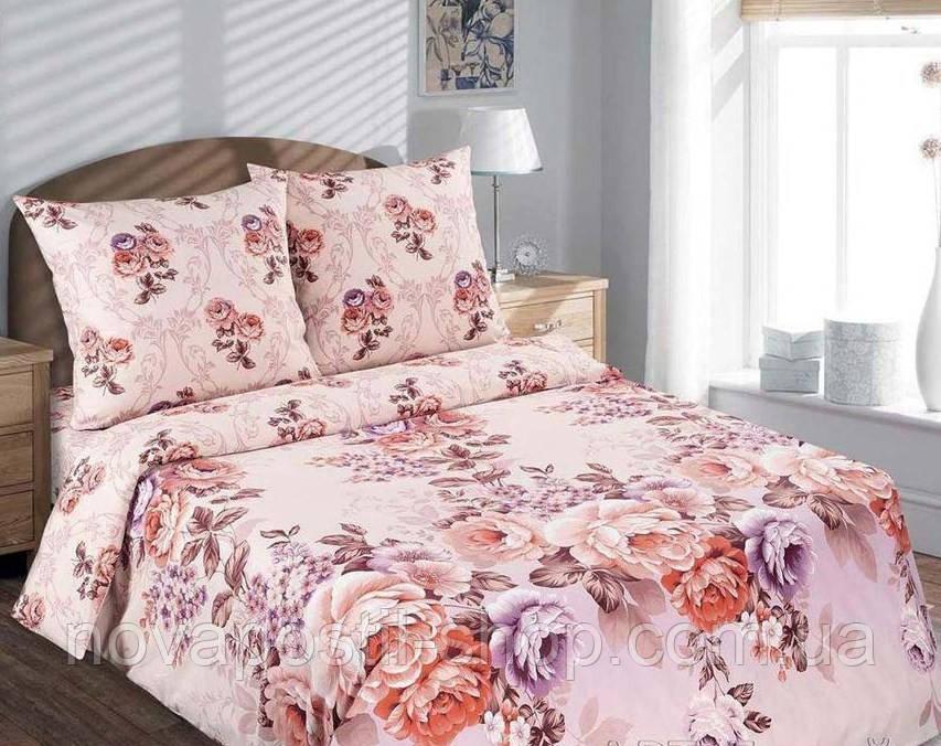 Ткань для постельного белья, поплин Карамельная роза