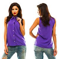 Рубашка женская штапель 7 цветов АНД119