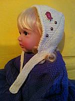 Комплект для мальчика на возраст прибл. до 1 года (пинетки 10 см + шапочка 45 см )