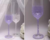 Свадебные бокалы Purple bow