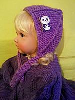 Комплект для мальчика на возраст прибл. до 1,3 года (пинетки 11 см + шапочка 46 см )