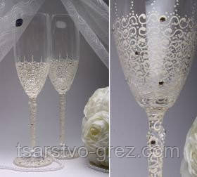 Свадебные бокалы Карамель