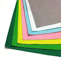 Велкро ткань / VELCRO в наборе 7 цветов, 22х28 см, Корея