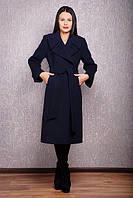 Демисезонное женское пальто из кашемира Люкс Д 38 синее