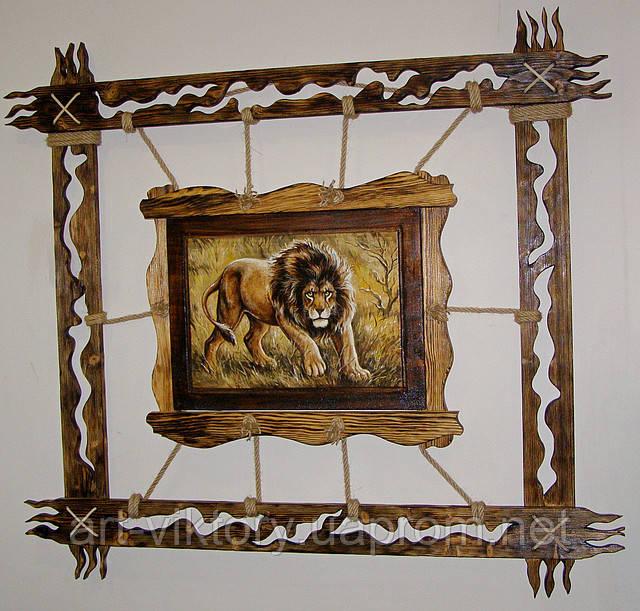 Картина Лев на дереве