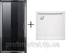 Душова двері Eger+Піддон SMC 90x90
