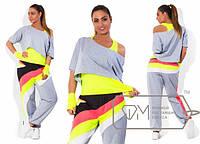 Женский спортивный костюм  Спорт-батал лимон