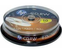 Диск CD-RW НР 700Mb 12x Cake 10