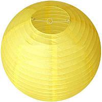 Бумажный фонарь, светло-желтого цвета, диаметр 30 см.