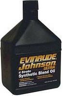 Масло для 4-х тактных лодочных двигателей 1 литр Evinrude/Johnson Ultra 4-Stroke Synthetic Blend Oil синтетика