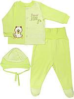 Набор: кофта, ползунки и шапочка (Зеленый)