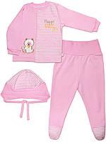 Набор: кофта, ползунки и шапочка (Розовый)