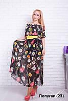 Платье летнее Попугаи (23)