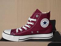 Кеды Converse All Star высокие унисекс бордовые