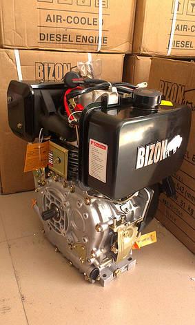 Дизельный двигатель BIZON 186F, под шлицы (Ф25 мм), фото 3